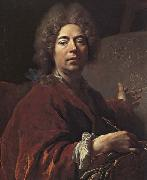 Nicolas de Largilliere Self-Portrait Painting an Annunciation oil painting artist