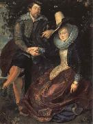 Peter Paul Rubens Self-Portrait with his Wife,Isabella Brant oil painting picture wholesale