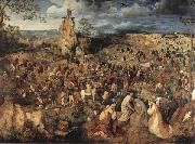 Pieter Bruegel Christ Carring the Cross oil painting artist