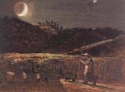 Samuel Palmer Cornfield by Moonlight oil painting picture wholesale