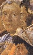 Sandro Botticelli White-haired man in group at right oil painting picture wholesale