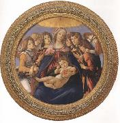 Sandro Botticelli Madonna and child with six Angels or Madonna of the Pomegranate oil painting picture wholesale