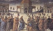 Sandro Botticelli Pietro Perugino,Consigning the Keys oil painting picture wholesale