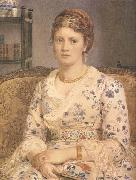 Sir Edward john Poynter,Bart.PRA,RWS Portrait of Mrs j.p.Heselitine (mk46) oil painting picture wholesale