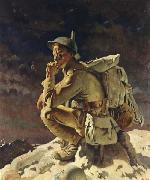 Sir William Orpen The Thinker on the Butte de Warlencourt oil painting picture wholesale