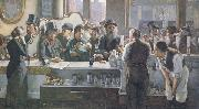 john henry henshall,RWS Behind the Bar (mk46) oil painting picture wholesale
