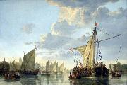 Aelbert Cuyp The Maas at Dordrecht oil