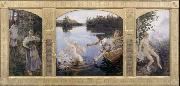 Akseli Gallen-Kallela The Aino triptych oil painting