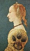 Alesso Baldovinetti Portrait of a Lady in Yellow oil painting