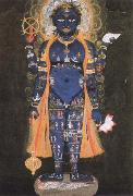 Ambrogio Lorenzetti vishnu visvarupa,preserver of the universe,represnted as the whole world oil painting