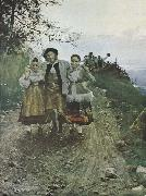 Anders Zorn tur hos famerna oil painting picture wholesale