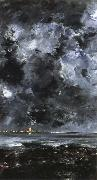 August Strindberg the city oil painting artist