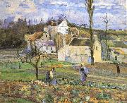 Camille Pissarro Cabbage harvest oil painting reproduction