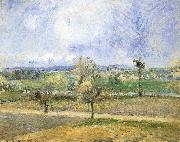 Camille Pissarro Rain scenery oil painting reproduction