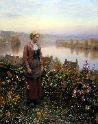 Daniel Ridgeway Knight Maria on the Terrace Rolleboise oil painting picture wholesale