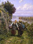 Daniel Ridgeway Knight Returning Home oil painting picture wholesale