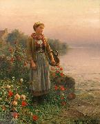 Daniel Ridgeway Knight Maria, By the Seine oil painting picture wholesale