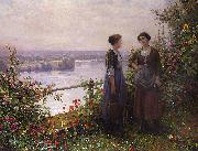 Daniel Ridgeway Knight Sur la Terrasse oil painting picture wholesale