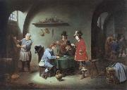 David Teniers gambling scene at an lnn oil painting reproduction