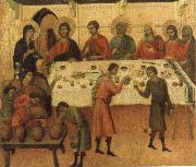 Duccio di Buoninsegna The marriage Feast at Cana oil painting picture wholesale