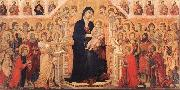 Duccio Maesta with Twenty Angels and Nineteen Saints. oil painting picture wholesale