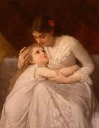 E.Munier Pardon, Mama oil painting