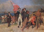 E.Phillips Fox landing of captain cook at botany bay,1770 oil painting picture wholesale