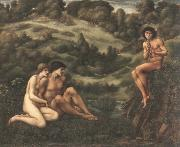 Edward Burne-Jones the garden of pan oil