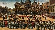 Gentile Bellini Procession of the True Cross in Piazza San Marco oil painting picture wholesale
