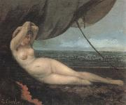 Gustave Courbet Naked oil painting reproduction
