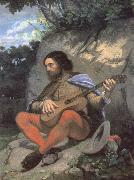 Gustave Courbet Young man in a Landscape or The Guitarreor oil painting picture wholesale