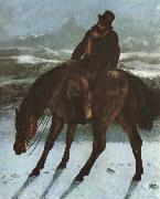 Gustave Courbet Hunter on the horse back oil painting picture wholesale