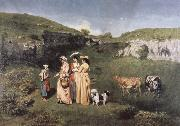 Gustave Courbet young women from the Village oil painting picture wholesale