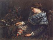 Gustave Courbet The Sleeping Spinner oil painting picture wholesale