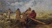 Ilia Efimovich Repin Volga River on the storm oil painting picture wholesale