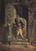 Jean Francois Millet Mother and child oil painting picture wholesale