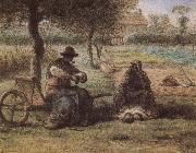 Jean Francois Millet The smoking have a break oil painting picture wholesale