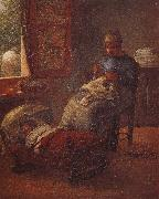 Jean Francois Millet Sleeping children oil painting picture wholesale
