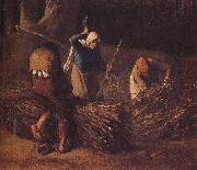 Jean Francois Millet Pack the hay oil painting picture wholesale