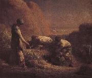 Jean Francois Millet Pick up wheat oil painting picture wholesale
