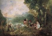 Jean antoine Watteau The base Shirra island goes on a pilgrimage oil painting picture wholesale
