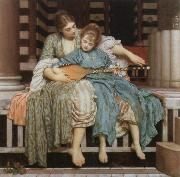 Lord Frederic Leighton the music lesson oil painting picture wholesale