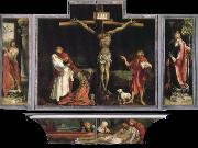 Matthias  Grunewald Yisenhaimu altar painting, Good Friday to map oil painting reproduction