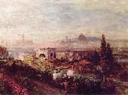 Oswald achenbach View over Florence oil painting artist