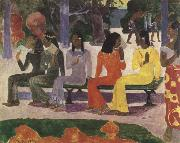 Paul Gauguin ta matete(we shall not go to the market today oil painting reproduction