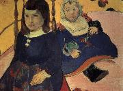 Paul Gauguin two children oil painting picture wholesale