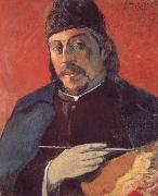 Paul Gauguin Take a palette of self-portraits oil painting reproduction