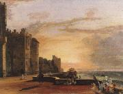 Paul Sandby Munn windsor castle,north terrace oil painting artist