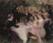 Peder Severin Kroyer hip hip hurrah artists party at skagen oil painting picture wholesale