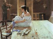 Richard Bergh after the pose oil painting picture wholesale